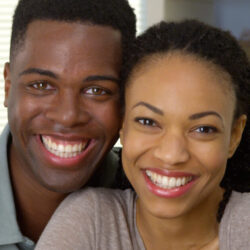 Happy couple learns about fertility
